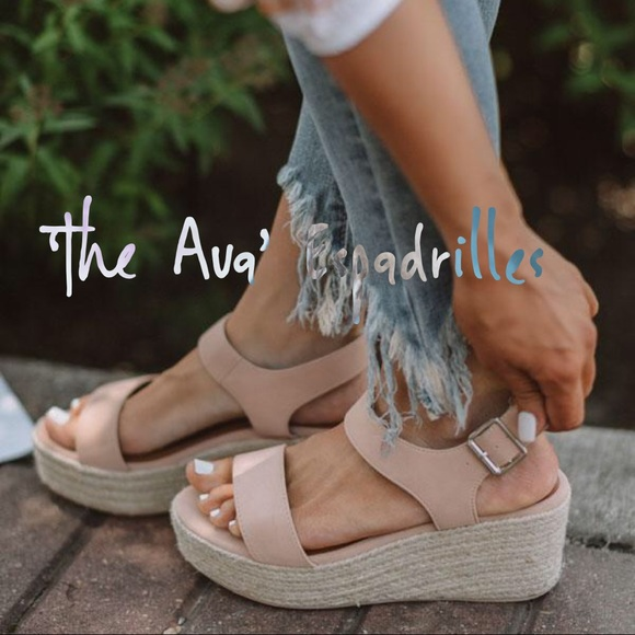 Shoes - 'The Ava' Espadrilles In Iced Latte